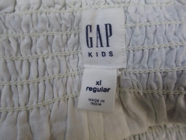 Gap Kids Dress Gray Grey White Lines Spaghetti Straps Size XL