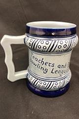 Gebrüder Plein Speicher Ceramic Stein Germany Blue GPS Bowling League