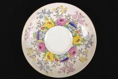 Crown Fine Bone China Staffordshire England Saucer Floral Pattern