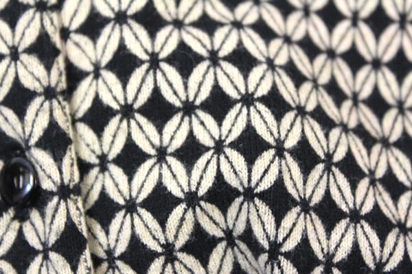 GNW Women's Button Up Shirt Black Tan Design Long Sleeve 81% Cotton Size Medium