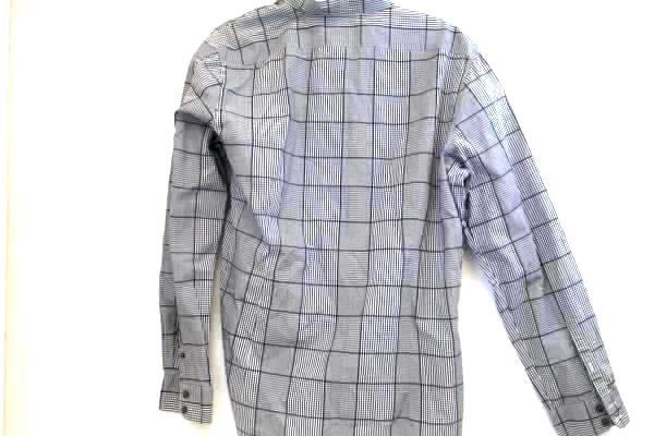 Men's Button Up Shirt By Claiborne Black White Plaid Long Sleeve  Size XL