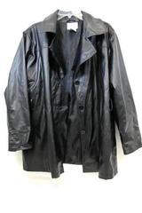 White Stag Jacket Coat Soft Faux Leather Black  Button Down Women's Size 1X 16W
