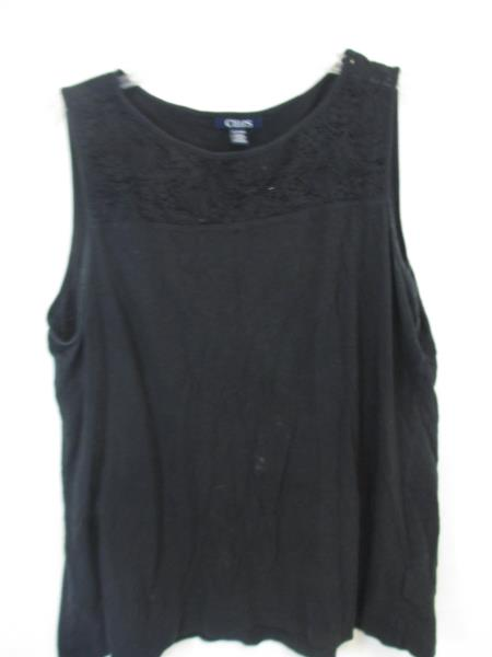 Tank-Top Blouse by Chaps- Black Woman's Size XL/TG/EG