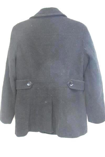 Calvin Klein Peacoat Jacket Double Breasted Black Wool Women's Size 6 Lined