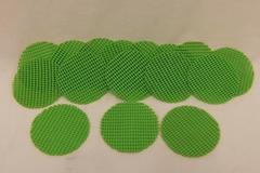 Set of 16 Non-Stick Green Round Coasters Patio Kitchen Home Decor