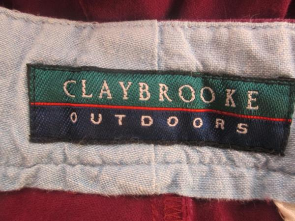 Claybrooke Men's Outdoors Shorts Solid Burgundy Size 34