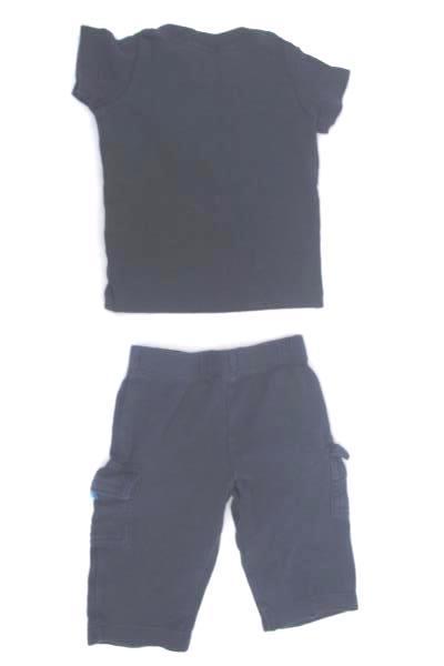 Shirt & Pants Set by Carter's Navy Blue w/ a Truck Design Baby Boy Size 3 Months