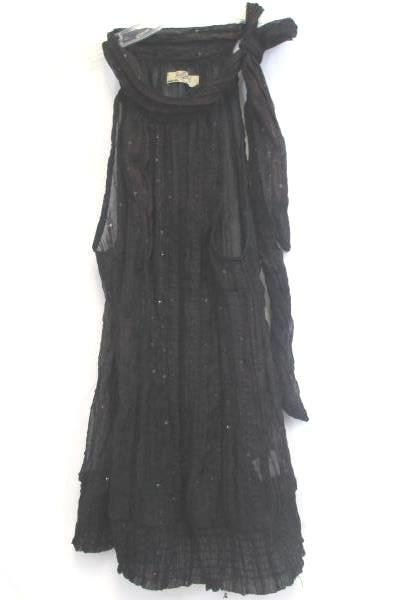 Romy Black Women's See Through Shirt w/ Red Accents Size Large