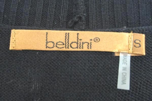 Women's Cardigan by Belldini White Black Design Short Sleeve No Buttons Size S