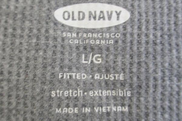 Old Navy Women's T-Shirt Gray Grey Waffle Long Sleeve Size Large