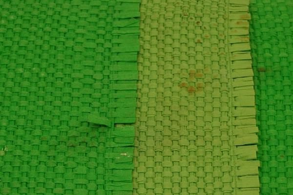 "3 Pcs Set Green Basket Weave Placemats Kitchen Bistro Home Decor 17"" x 12"""