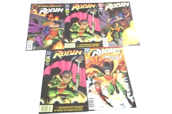 Lot of 5 DC Comic Books About Robin