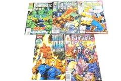 Lot of 5 Marvel Comic Books Featuring Fantastic Four