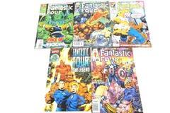 Lot of 5 Marvel Comic Books Featuring Fantastic Four