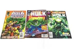 Lot of Three Marvel Comic Books ~Featuring The Incredible Hulk