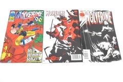Lot of 3 Marvel Comic Books Featuring X-Men The Wolverine