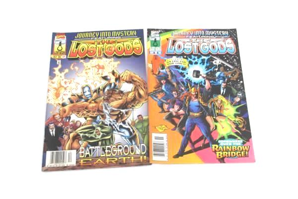 Lot of 2 Marvel Comic Books Featuring The Lost Gods