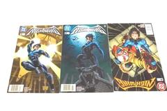 Lot of 3 DC Comic Books Featuring NightWing