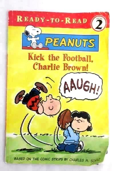 2 Toddler Books:Thomas the Train & Peanuts Kick The Football Charlie Brown