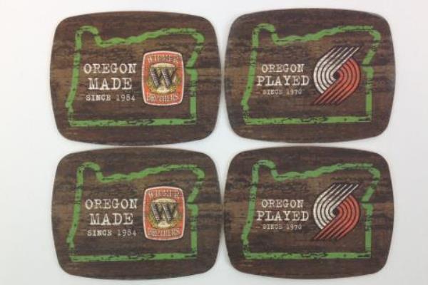 4 Coasters Widmer Beer Oregon Made Portland Trail Blazers Paper Breweriana