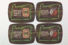 4 Coasters Widmer Beer Oregon Made Portland Trail Blazers Paper Breweriana