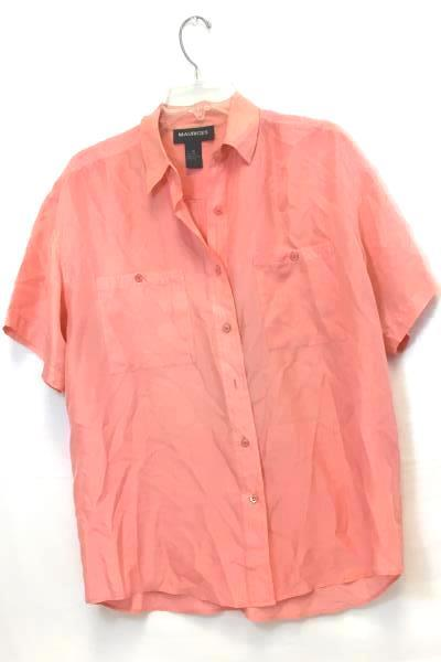 Lot of 2 Button- Up Shirts by Maurices & Eddie Bauer Purple Pink Women's Size M