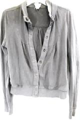 Forever 21 Turtleneck Sweater Gray Grey Buttons Women's Size Medium