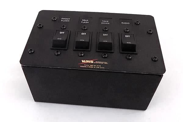 Wired Rite Systems Inc 4 Panel Switch Box Radio Take Down Rear Flash Front Flash