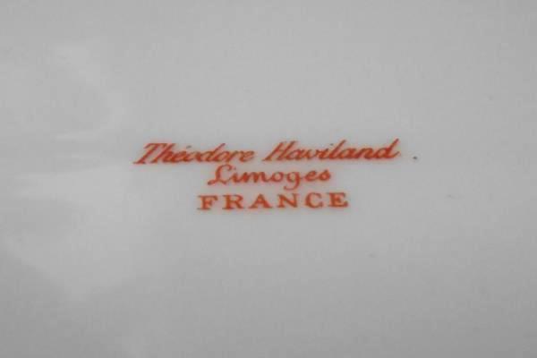 """Haviland Limoges Oval Serving Platter 18"""" w/ Well TH 16 Pink Floral Gold Gilt"""