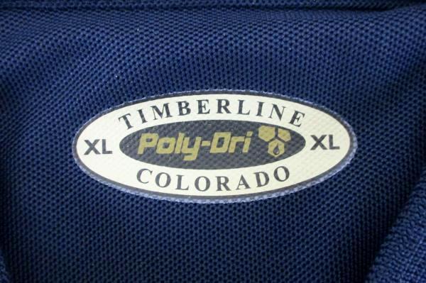 Men's Timberline Colorado Poly-Dri Blue Polo Shirt Size XL