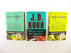 JD Robb Lot of 3: Innocent, Treachery & Strangers IN DEATH Novels HC Eve Dallas