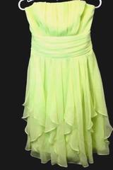 Strapless Dress Davids Bridal Green 100% Polyester Size Women's 4