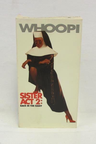 Lot of 3 Whoopi Goldberg VHS Movies Sister Act 1 & 2 Jumpin' Jack Flash