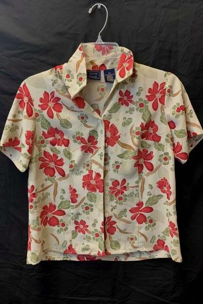 Laura Scott Women's Long Sleeve Button Up Shirt Size 4P