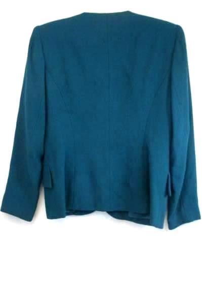 Dress Coat by Petite Sophisticate- Green Women's Size 4P