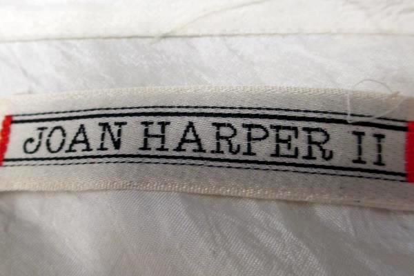 Button Up Blouse by Joan Harper II- Glossy White Woman's Size 36/16W