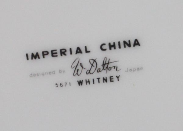 9 Pcs - Imperial China Whitney #5671  TWO 4-Piece Place Settings & Platter