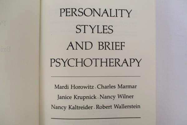 Personality Styles and Brief Psychotherapy Horowitz et al HC No DJ 1984