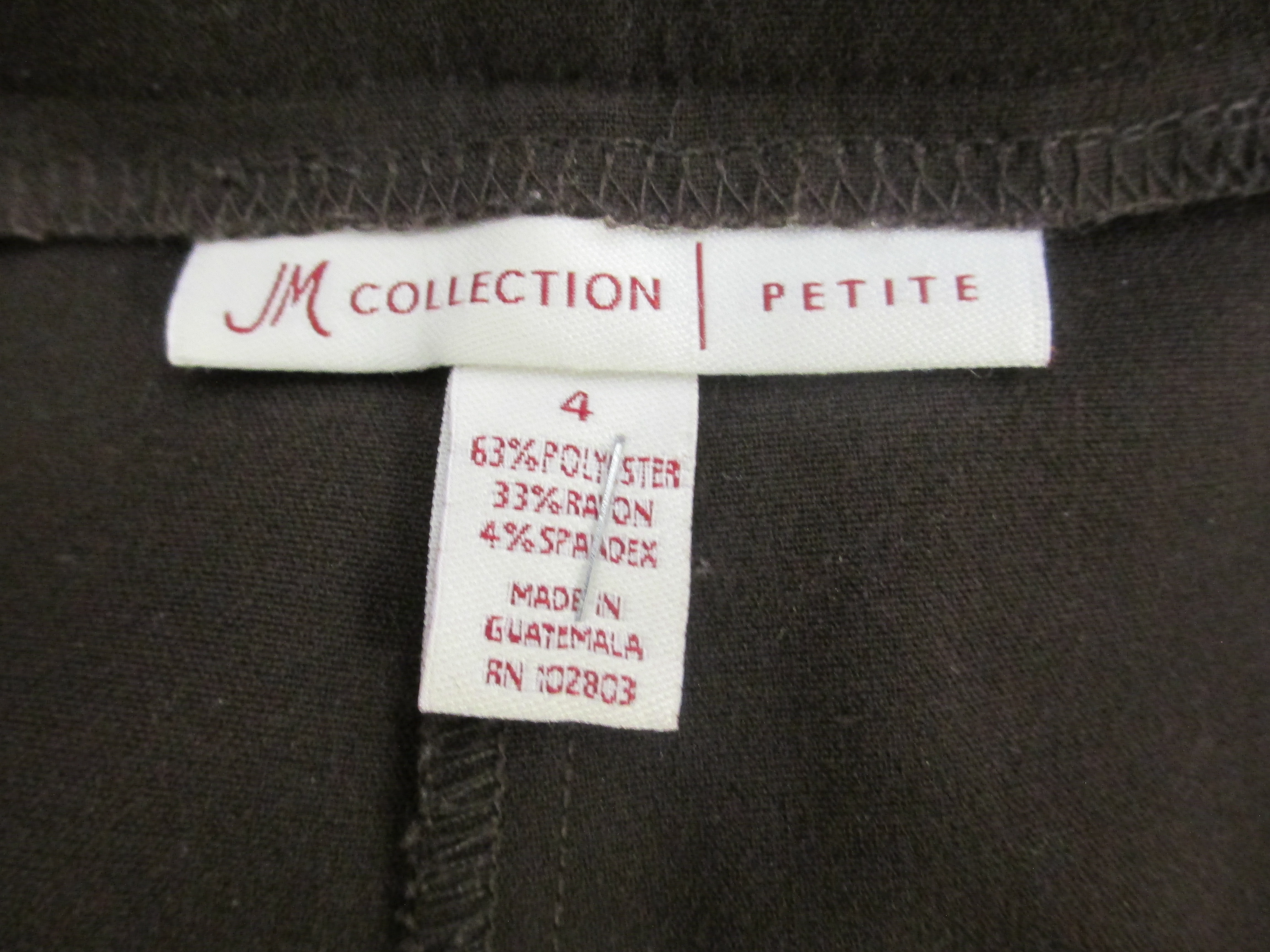 Womens Pants Made By JM Collection Brown In Color Size 4P