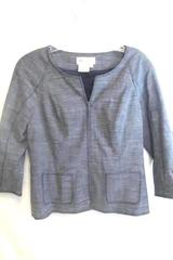 Worth Women's Suit Jacket Grey Gray w/ Zipper 2 Pockets Size 8