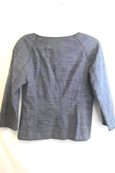 Worth Women's Suit Jacket Grey Gray w/ Zipper 2 Pockets Size 8