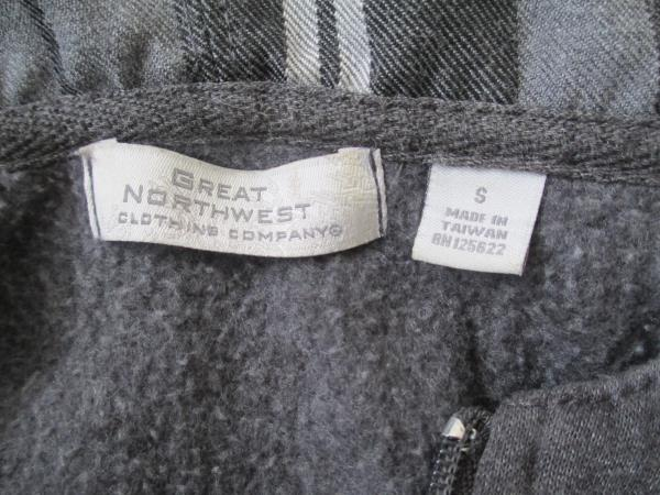 Jacket by Great NorthWest- Grey & Black Plaid, Woman's Size S