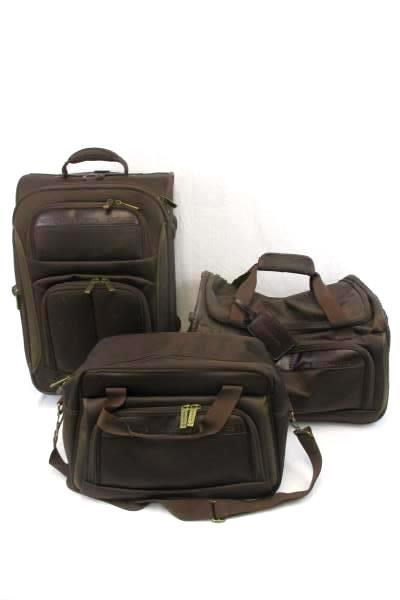 Claiborne Luggage Set 3-Piece Upright Expandable Suitcase Duffle Bag Carry-on