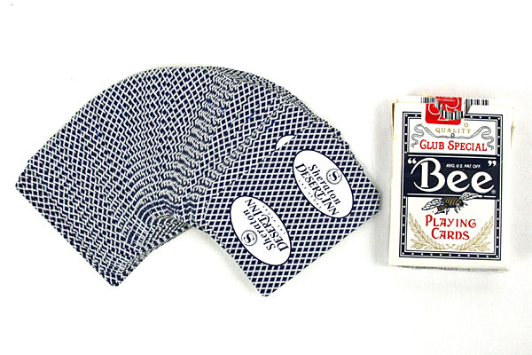Sheraton Desert Inn BEE 92 Blue Diamond Cambric Finish Playing Cards #T7982