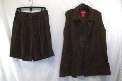 Venezia Jeans Worn To Perfection Women's Vest Size 16 Shorts Size 18