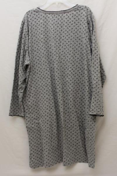 """Coffee Talk XL Women's Night Gown """"Delight in the Little Things"""" Gray Grey"""
