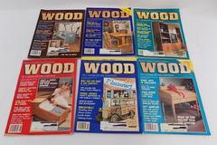 Complete Set of 6 1989 WOOD Magazines