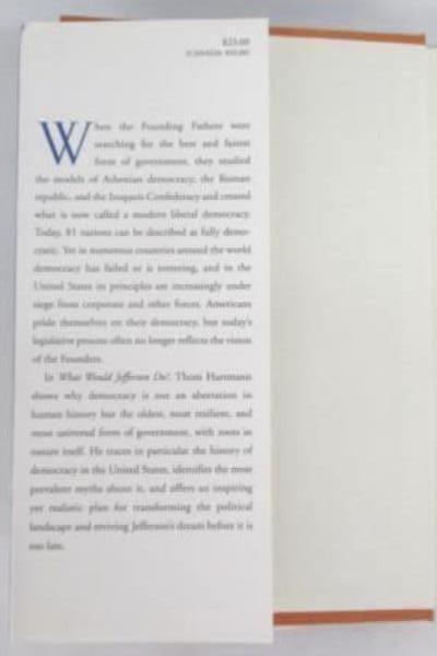 What Would Jefferson Do? A Return to Democracy Thom Hartmann