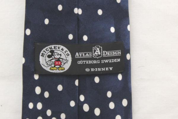 Disney Mickey & Co. Blue & Red Santa Mickey Mouse Snowfall Necktie Tie