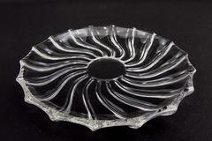 """Set of 4 Rhythm 7"""" Bread Plates Federal Glass Company"""